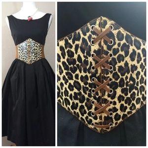 Leopard Corset Belts